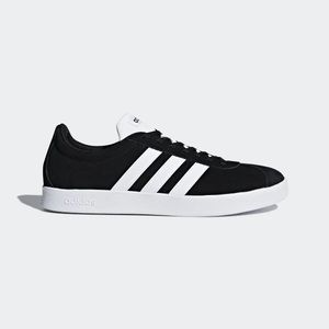 NWT Adidas VL Court 2.0 Skateboarding Shoes Black